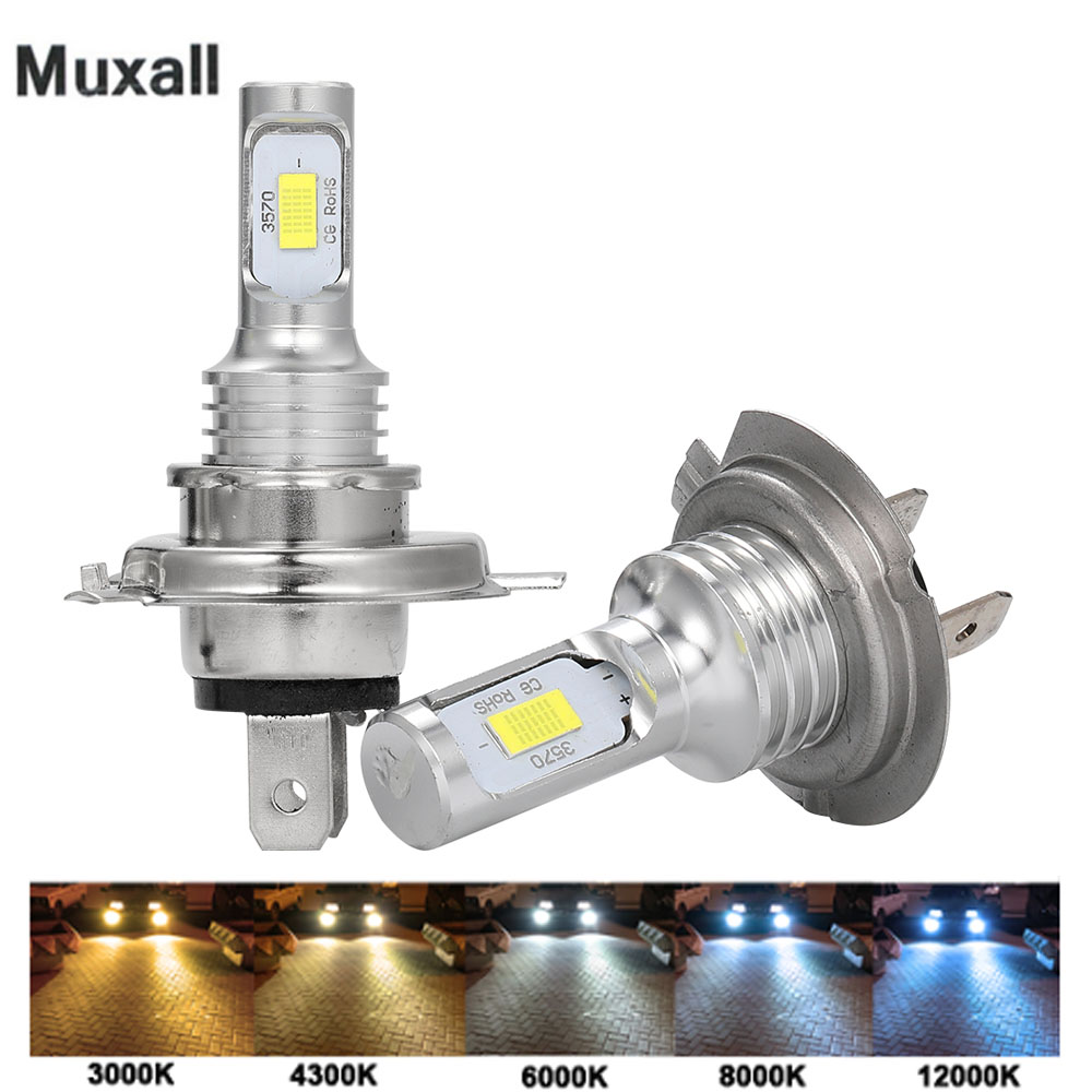 Motorcycle Headlight H4 Led 12000LM Motorbike Light 80W Super White 6500K Car Headlight Outdoor Lighting Hi-Lo lights