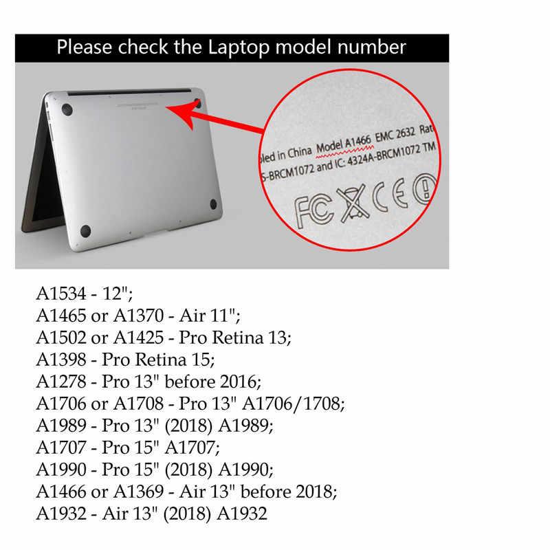 Animal portable étui pour Apple Macbook Air Pro Retina 11 12 13 15 pour Mac book 2017 2018 2019 Air 13 Pro 13 15 pouces avec barre tactile