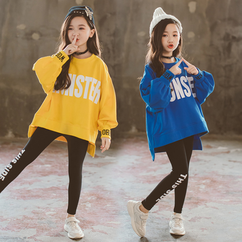 Kids Girls Clothes Sets Long Sleeve Sweater Hoodies + girl leggings  Pants Autumn 3 5 7 8 10 12 Years baby girl clothes 2