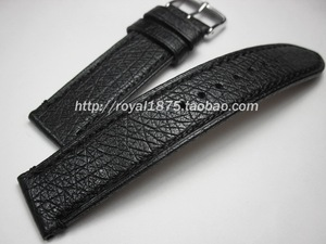 22 мм ручной работы, черный цвет, кожа страуса, высокое качество, ремешок для наручных часов, мягкий ремешок, Ремешки для наручных часов, Ретро...