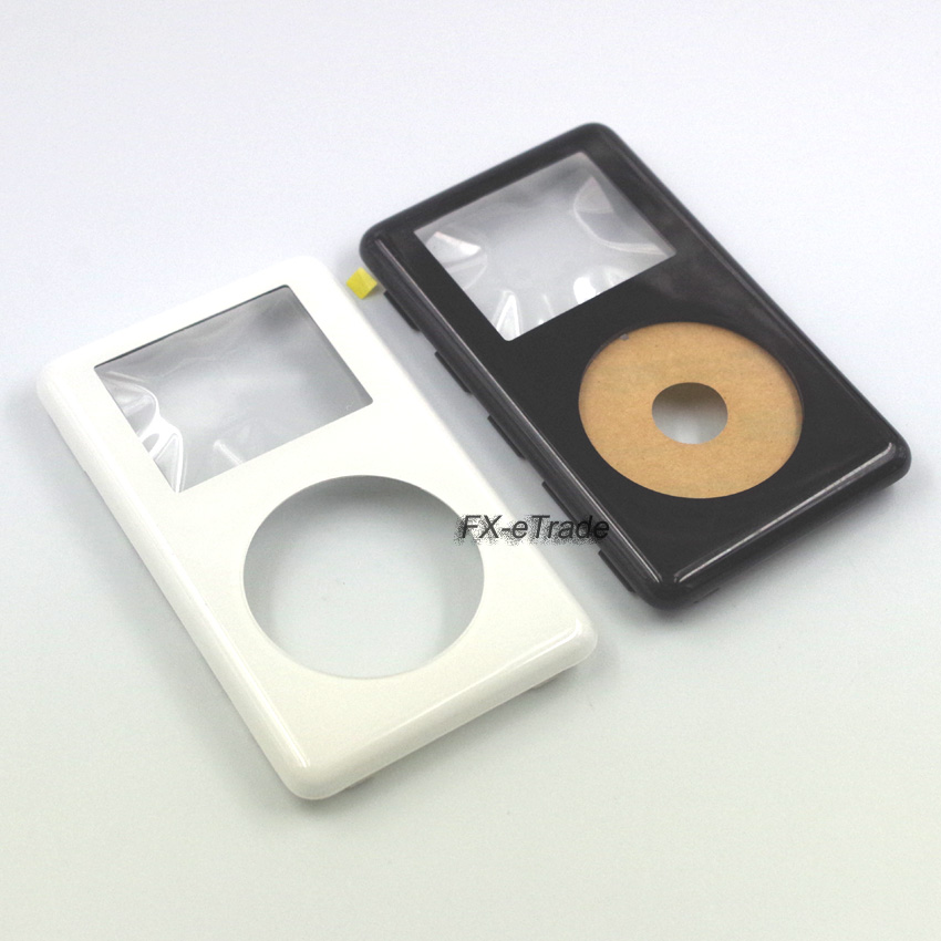 white front faceplate housing case cover fr ipod color photo 20gb 30gb 40gb 60gb