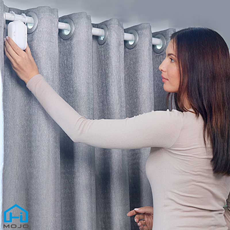 HIMOJO Tuya Smart Curtains  Wireless Automatic Curtain Opener Rechargeable Switch bot Curtains Remote Control Alexa Google Home 1