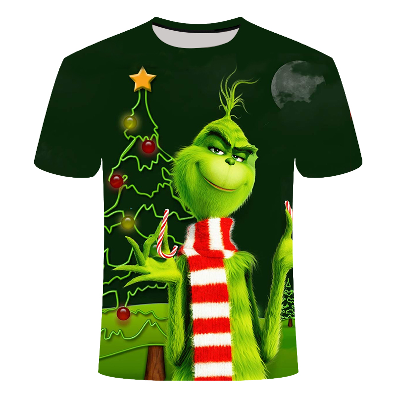3D Printing Summer Fashion Casual <font><b>Men</b></font> And Women Film Grinch <font><b>T</b></font>-<font><b>shirt</b></font> Anime 3D Printing Casual <font><b>Men</b></font> And Women <font><b>T</b></font>-<font><b>shirt</b></font> S-<font><b>6XL</b></font> image