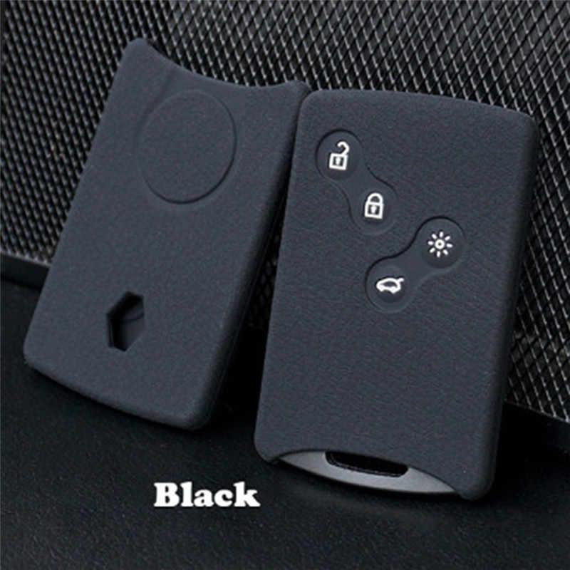 1Pcs 2 3 Koleos סניק כרטיס keychain מקרה 4 כפתור רכב מפתח סיליקון כיסוי מגן מחזיק עבור רנו קליאו לוגן מגאן