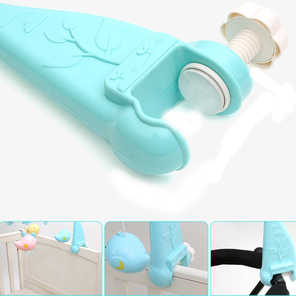 Educational Plastic Musical Gift Rotating Baby Rattle Hanging Bracket Newborn Toy Crib Bed Bell 120 Songs Early Learning