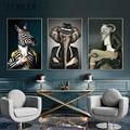 Современные абстрактные животные холст картины платье с изображением животных настенные постеры винтажные настенные художественные карт...