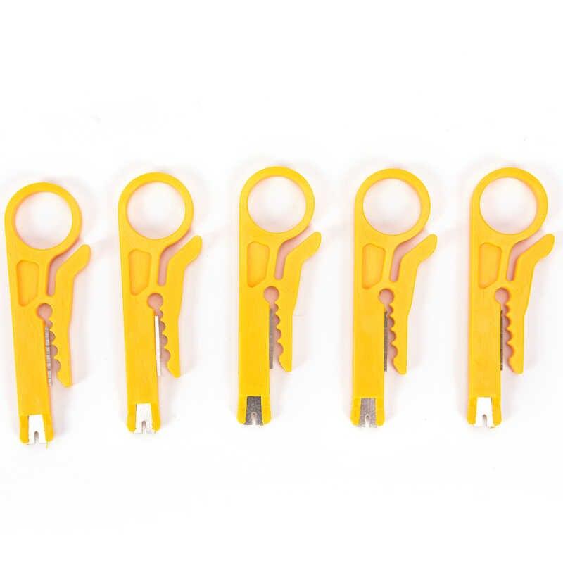 Mini Cavo di Stripping Wire Cutter Multi Linea di Taglio Tasca ToolsMultitool Portatile Filo Spogliarellista Coltello Crimpatrici Pinze Attrezzo di Piegatura