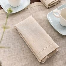 12pcs Linen Party Table Cloth Dinner Napkin Restaurant Home Napkins Wedding Linen Fabric Napkins 4 Size