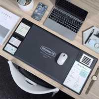 Large Computer Mousepad Kawaii Desk Cover Writing Mat Modern Waterproof PVC Office Table Mat  Dcoration Desk With Calendar