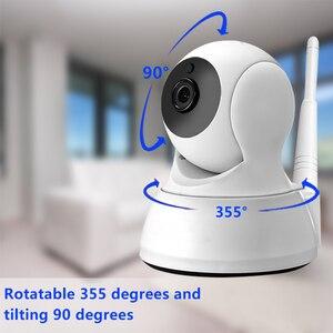Image 3 - Câmera ip de segurança em casa áudio em dois sentidos hd 720p sem fio mini câmera 1mp visão noturna cctv câmera wi fi monitor do bebê