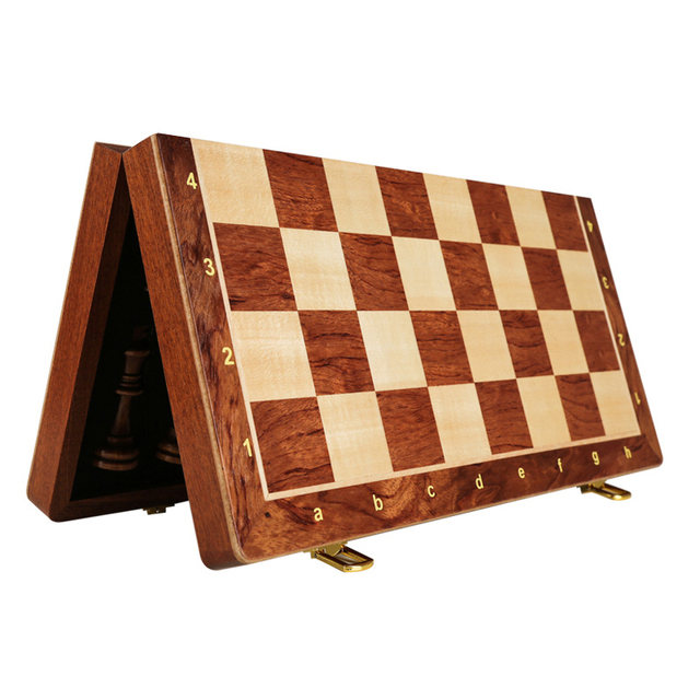 Buy Best Top Grade Wooden Folding Big Chess Set Traditional Classic Handwork Solid Wood Pieces Walnut Chessboard Children Gift Board Game-