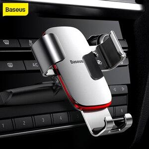 Image 1 - Baseus הכבידה רכב טלפון מחזיק עבור iPhone X Xs 78 סמסונג S9 אוניברסלי בתקליטור חריץ רכב מחזיק עבור נייד טלפון הר בעל