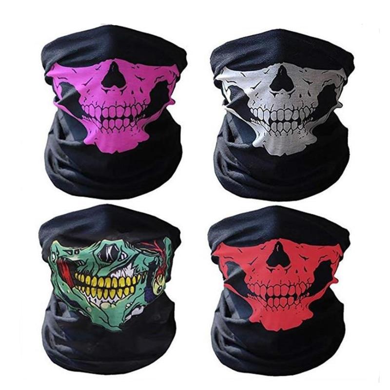 Wholesale 50 Pcs Skull Motorcycle face Mask British flag clown HeadScarf Cycling seamless bandanas Paintball Balaclava masks