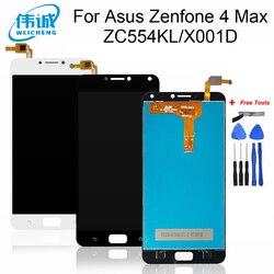 Para asus zenfone 4 max zc554kl display lcd + tela de toque digitador assembléia 5.5 1920 1080 x para asus zc554kl lcd preto