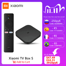Xiaomi Mi Box S 4K Ultra HD Set Top Box Android TV 9,0 HDR 2G 8G WiFi google Chrome Netflix Smart TV Box 4 Media Player