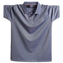 2020 夏メンズポロシャツカミーサカジュアル綿オムトップスシャツオム 5XLプラスサイズビジネスビッグ背トップtシャツ