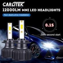 CARLitek 360 degree mini led h7 led headlight 12000lm h1 Car led Bulb h4 led HB4 HB3 9005 9006 For Car LED светодиодные лампы SA