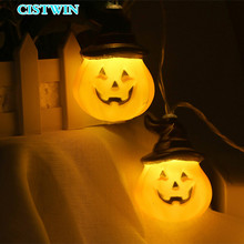 Pumpkin String Lights Halloween Decoration With 10 LED Beads Outdoor Holiday Lighting