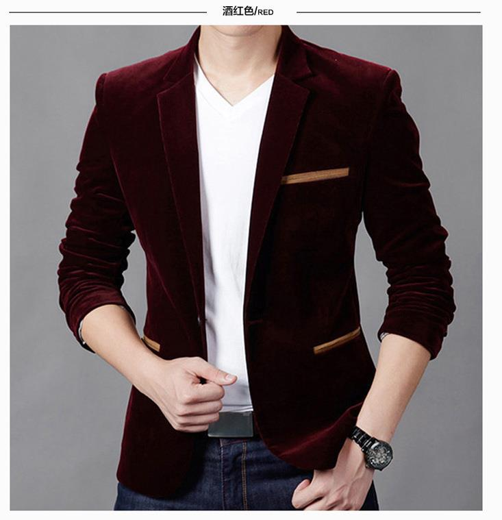 Nice Tide Vogue Luxury Blazer Men Spring Fashion Brand Quality Cotton Slim Fit Men Suit Terno Masculino Men Blazer Masculino