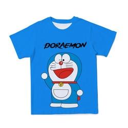 New Summer Anime Boy Girl Blue Print Short Sleeve T-Shirt Fun Fashion 3DT Shirt Happy Kids Party Costume 2021