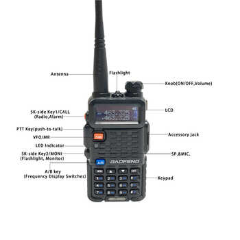 Baofeng Radio BF-F8+ Walkie Talkie 2Way Ham Radios Pofung рации F8+ 5W VHF UHF Dual Band Long Distance Handheld hf Transceiver