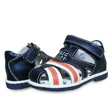 NEW 1 pair Genuine Leather Sandals Orthopedic Sandals Children shoes , super quality Kid Boy Sandals(China)