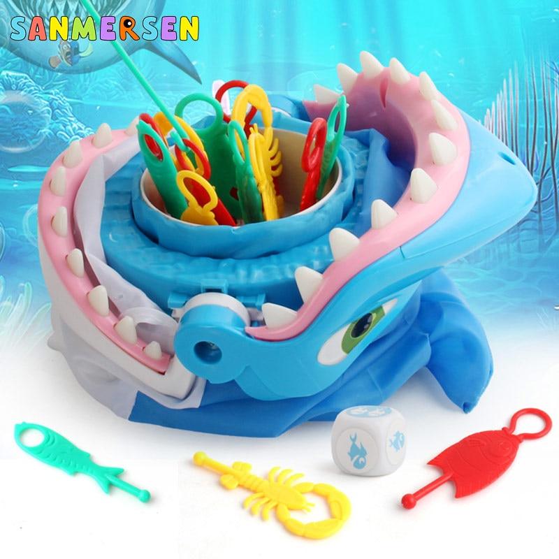 Engraçado festa jogo de tabuleiro pirata barril tubarões pinguim armadilha novidade brinquedos para crianças lucky stab pop up brinquedos de plástico presente do mal