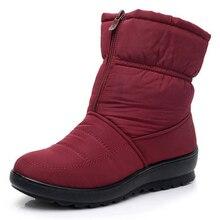 Зимние женские ботинки, женская обувь, водонепроницаемые ботильоны для женщин, зимняя обувь, женская обувь, теплые меховые ботинки на толстом мехуЗимние сапоги    АлиЭкспресс