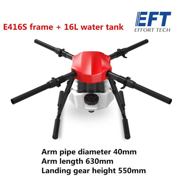EFT E416S 16L 16 كجم الزراعة رذاذ بدون طيار مع فرش مضخة مياه رذاذ نظام هواية الجناح X9 نظام الطاقة 5