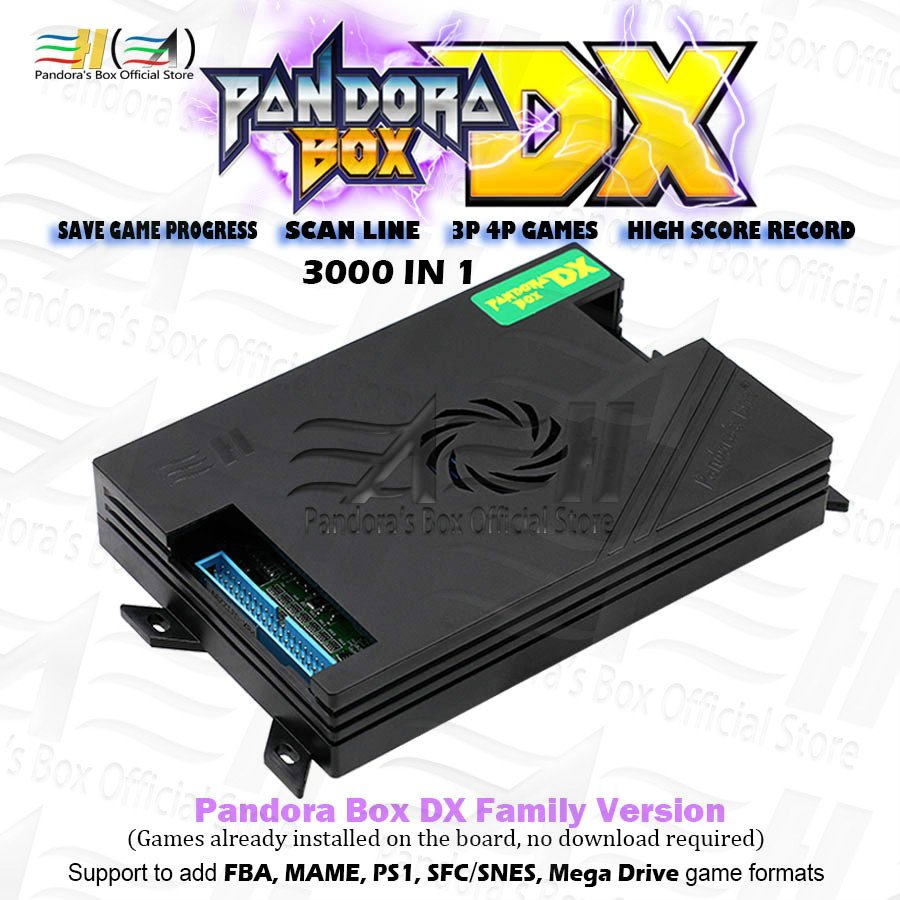 Pandora Box DX family version 3000 in 1 have 3d and 3P 4P game Can save  game progress High score function tekken Killer instinct