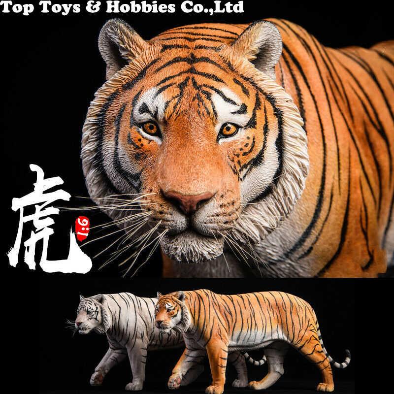 41cm JXK012 1/6th Amarelo/branco Bengal Tiger Animal Estátua Modelo Toy Presente Coleção Modelo de Resina Anime figura para Os Fãs Presente