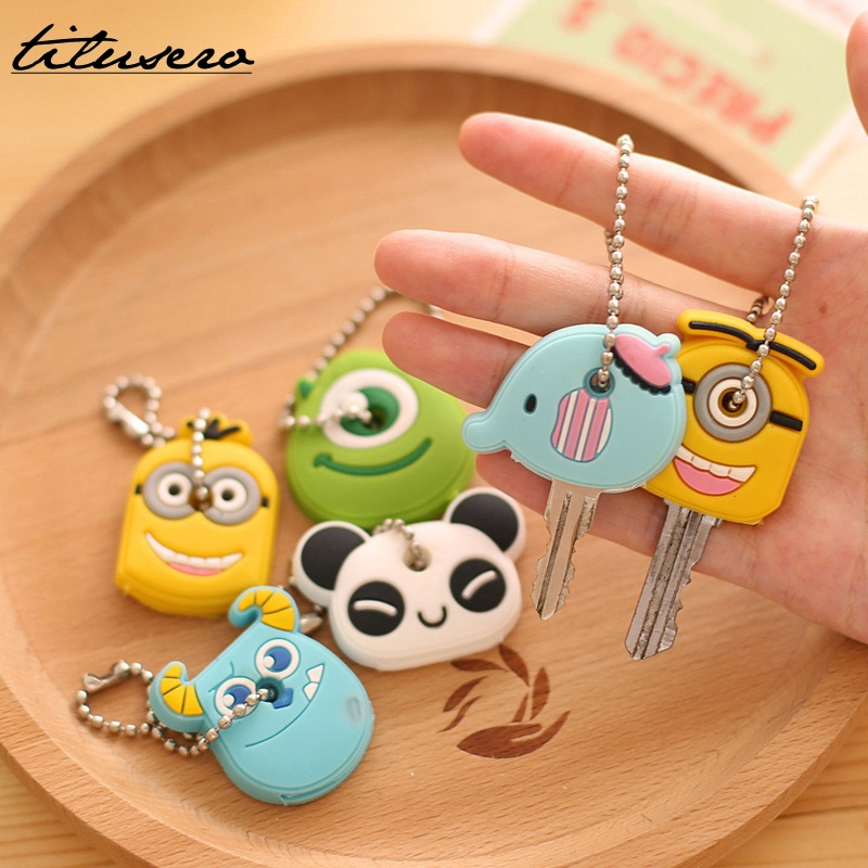 Cartoon Key Wallet Silicone Key Holder Case Cute Key Protective Wallet Hook F016