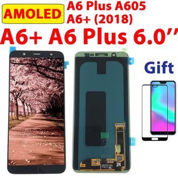 100% Test AMOLED A605 For Samsung Galaxy A6+ 2018 Touch Screen Digitizer LCD Display For SAMSUNG A6 Plus A6+ A605 Assembly A605F