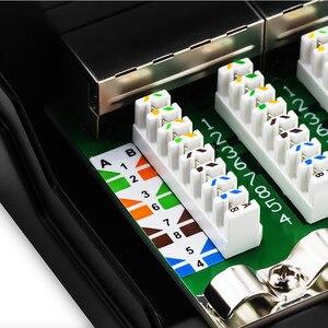 Image 5 - RJ45 Cat6 Cat6A Network Adapter Full Shielded Patch Panel 8/12 Port Mini Desktop Wall Mounted Keystone Jack Network Module