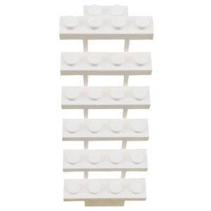 Image 1 - 2 قطعة/المجموعة متوافق ل قفل MOC أجزاء الأبيض الدرج بناء كتل الطوب لعب للأطفال للأصدقاء [ستس] كتلة