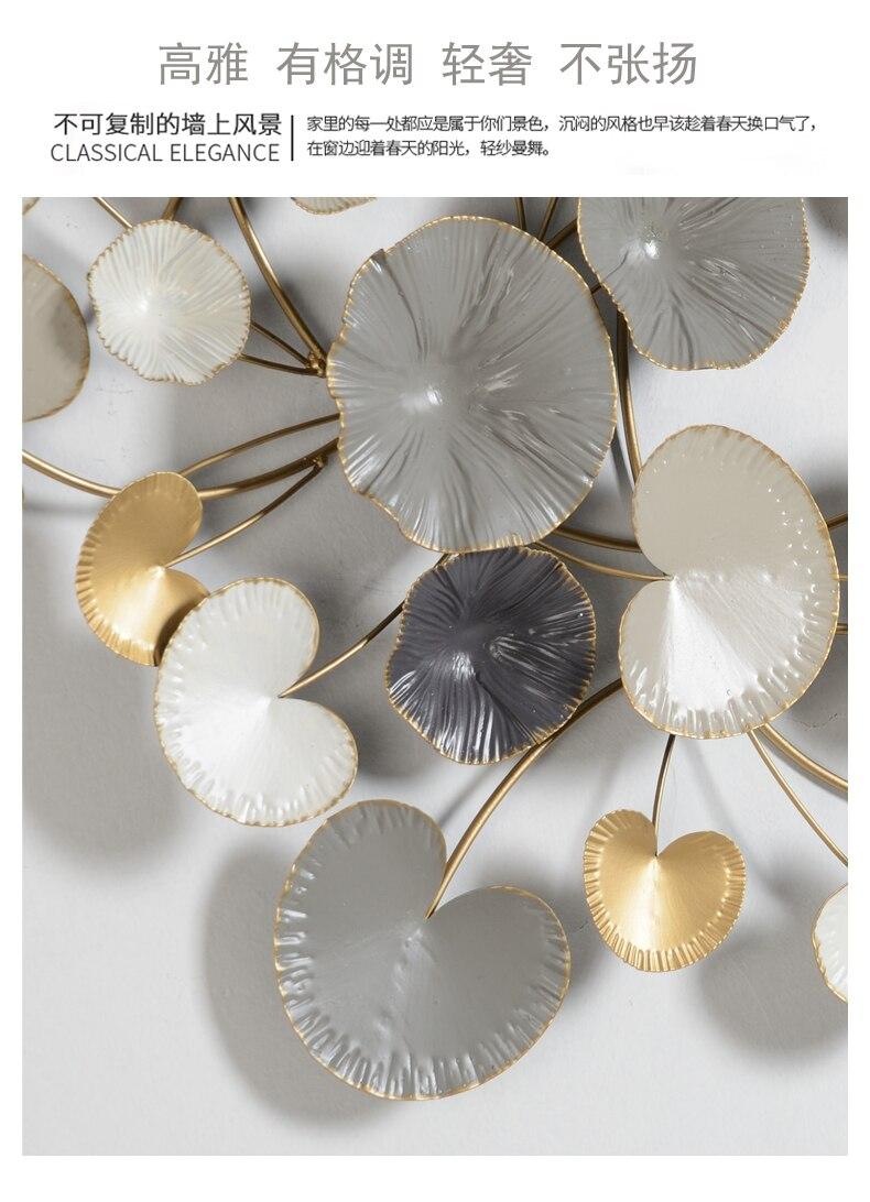 Настенные украшения, подвесные Креативные украшения для спальни, ресторана, магазина, настенные украшения на 3D цветочной стене в Северной Е... - 6