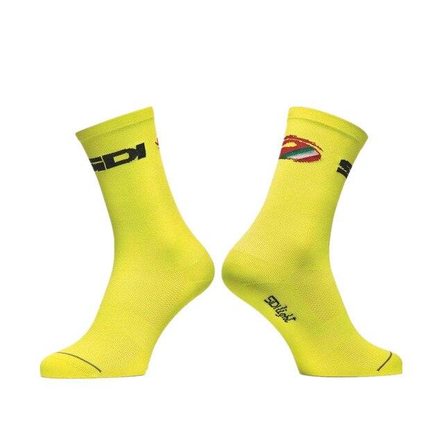Nova edição da equipe de esportes ao ar livre bicicleta corrida sidi ciclismo meias de compressão 5
