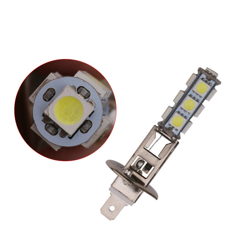 10Pcs Auto Led-lampe H1 H3 Nebel Lampe DRL Auto 13Smd Tagfahrlicht 5050 Reverse Lampe Super Helle scheinwerfer Weiß 12V