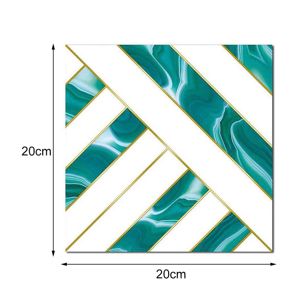 10Pcs Geometric Tile Sticker Waterproof Wear Resistant Marble Matte Sticker 3D Wall Sticker Home Wall Decoration Supplies in Wall Stickers from Home Garden