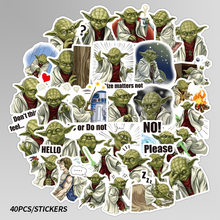 40pcs/Pack Star Wars The Mandalorian Baby Yoda Stickers Car Anime Sticker to DIY Laptop Luggage Suitcase Bicycle Helmet Decals(China)