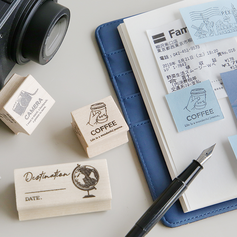 Vintage Journey Story City Map Stamp DIY Wooden Rubber Stamps For Scrapbooking Stationery Scrapbooking Standard Stamp