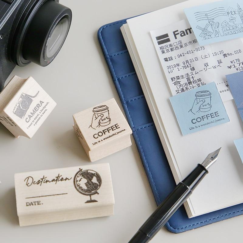Vintage Journey Story City Map Stamp DIY Wooden Rubber Stamps For Scrapbooking Stationery Scrapbooking Standard Stamp