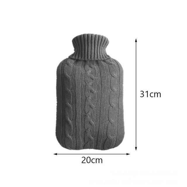 Вязаный чехол для бутылки с горячей водой устойчивый к ожогу