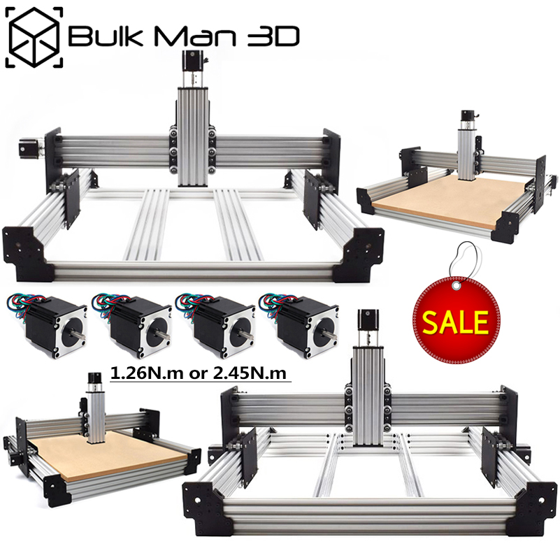 New Upgrades Workbee CNC Router Machine Kit 4 Axis Woodworking Metal Engraver Milling Machine With Nema23 Stepper Motor