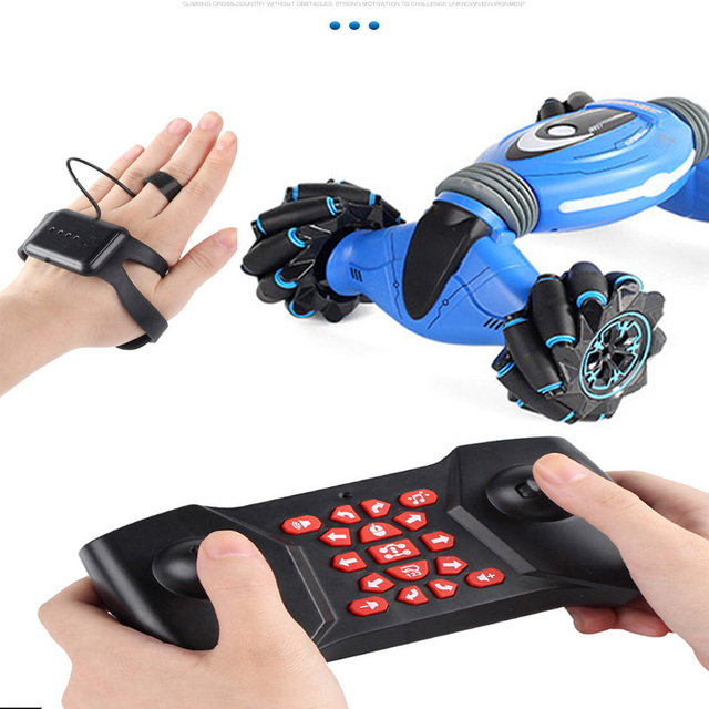 4WD RC Trick Car TikTok Watch  Gesture Sensor Control Deformable Electric Drift Transformer Car Toys for Boy Gift with LED Light