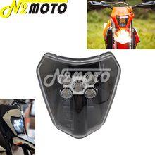 Motocross enduro duplo esporte e8 emark led farol para exc xcf xcw te tc fe 125 250 300 350 450 530 690 smr XC-W seis dias
