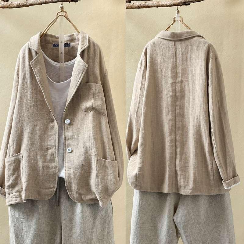 Women Casual Business Blazers 2020 ZANZEA Plus Size Coat Jackets Ladies Solid Loose Pockets Blazer Long Sleeve Outwear Chaqueta