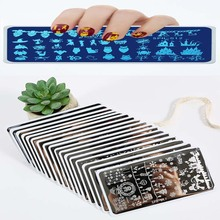 12.5cm*6.5cm Holloween/Christmas Series Nail Art Stamp Stamping Template Plate(1pc) Manicure Stencil Tools Polish Plate SPH