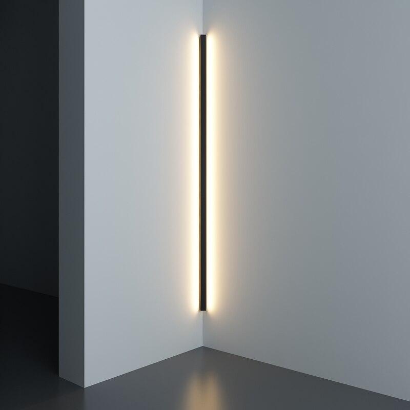 Canto moderno e minimalista conduziu a lâmpada de parede interior simples linha luz luminárias arandelas parede da escada quarto cabeceira iluminação para casa decoração