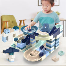 80-360PCS Marble Race Run Big Block Compatible Duploed Building Blocks Funnel Slide Blocks DIY Big Bricks Toys For Children Gift